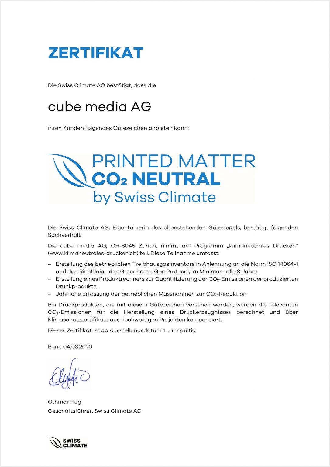 Nachhaltigkeit - cube media AG 8