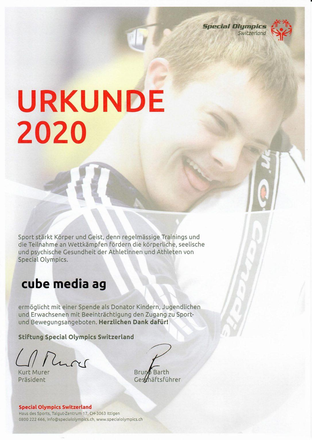 Special Olympics Switzerland - cube media AG 1