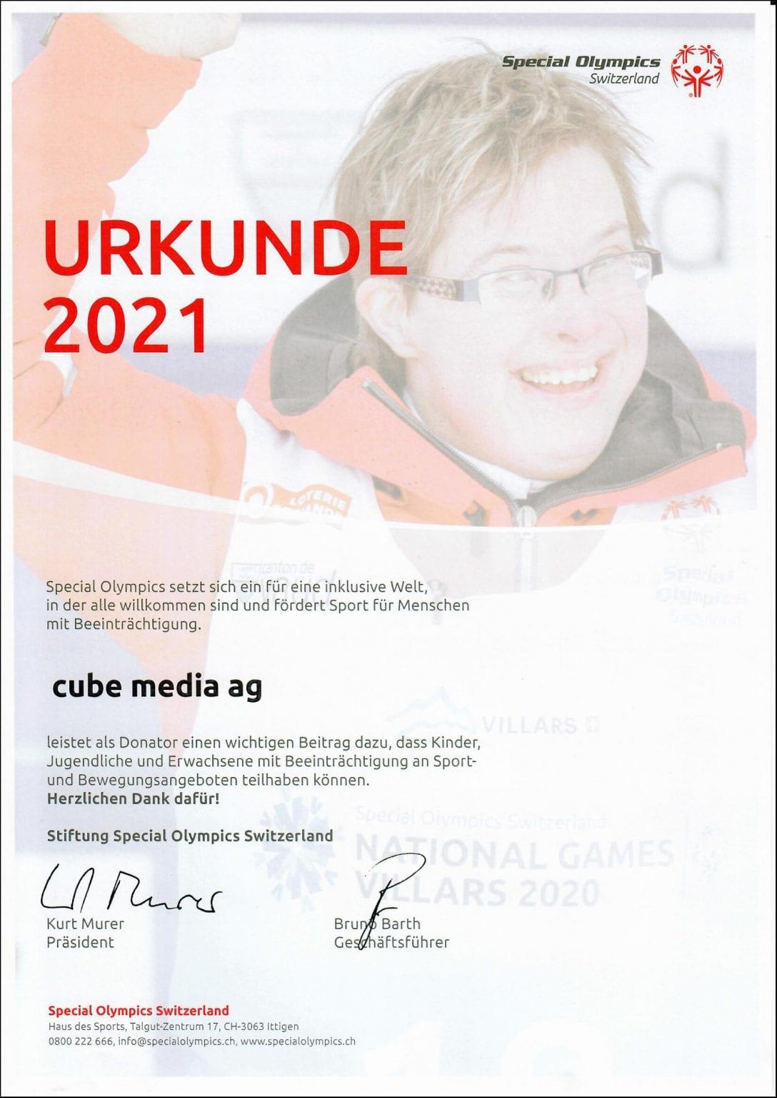 Special Olympics Switzerland - cube media AG 2