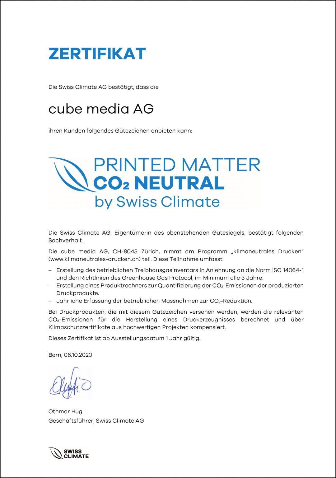 Nachhaltigkeit - cube media AG 10